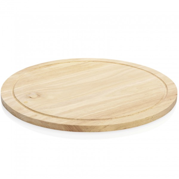 Pizzateller mit Saftrille, Ø 32 cm, Holz