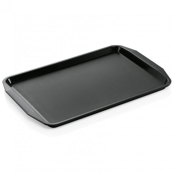 Tablett mit Lappengriffen, 44,3 x 31,5 cm, schwarz, Polypropylen