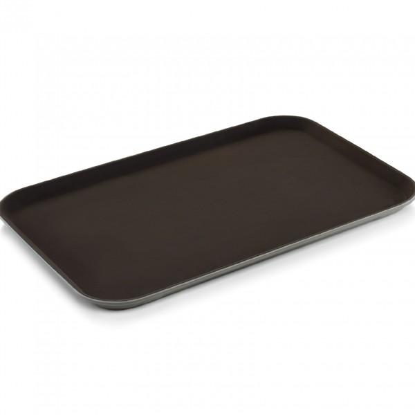 Tablett, 60 x 40 cm, braun, Polypropylen