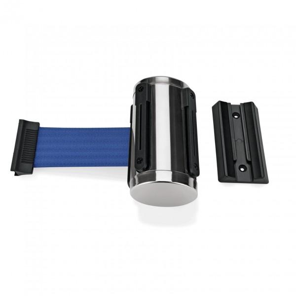 Gurtband Highflex für Wandmontage, 2 m, blau, inkl. Wandhalter