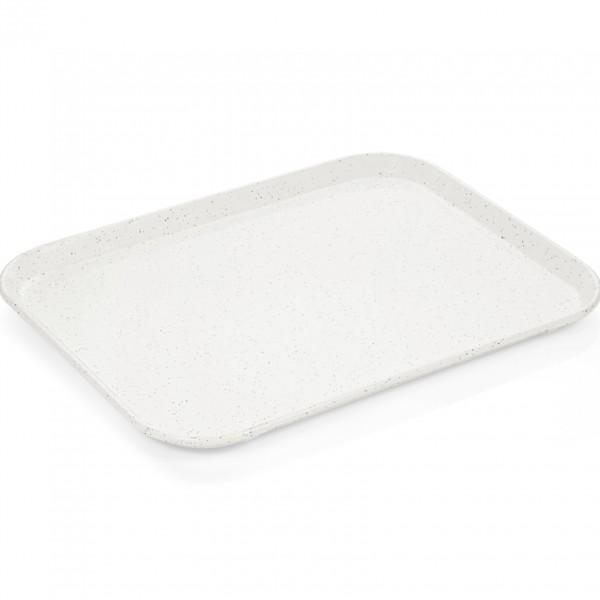 Tablett, 45,5 x 35,5 cm, milchweiß, Polyester