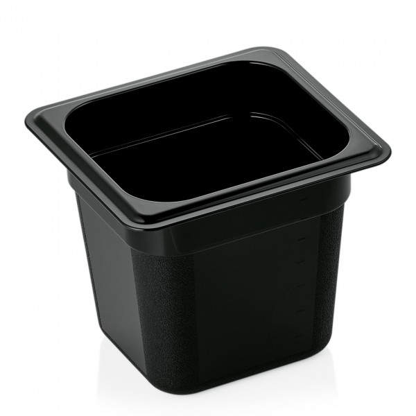 GN Behälter 1/6-150 mm, schwarz, Polycarbonat