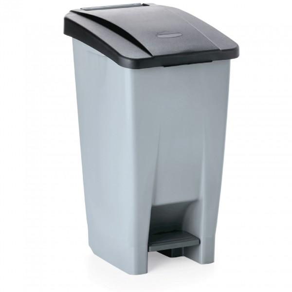 Tretabfallbehälter mit schwarzem Deckel, 60 ltr., Polyethylen
