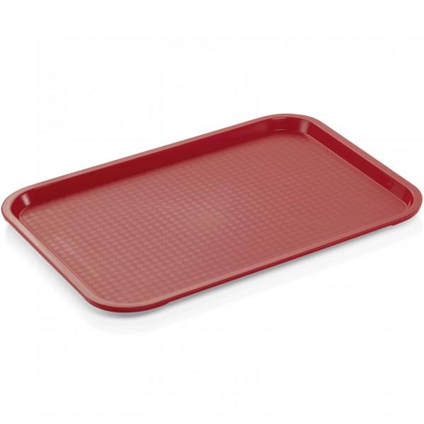 Tablett, 45,5 x 35,5 cm, rot, Polypropylen