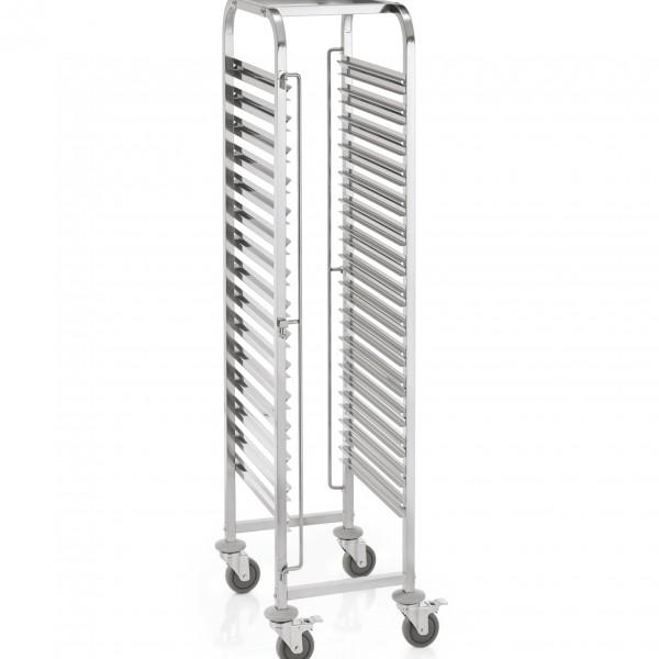 Regalwagen GN 1/1 für 15 Behälter, 55 x 38 x 174 cm, Chromnickelstahl