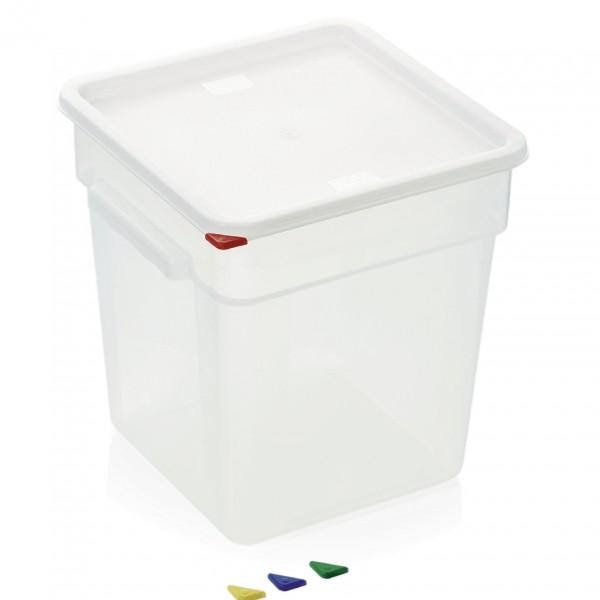Vorratsbehälter mit Deckel, 18 ltr., 28,5 x 28,5 x 32 cm, Polypropylen