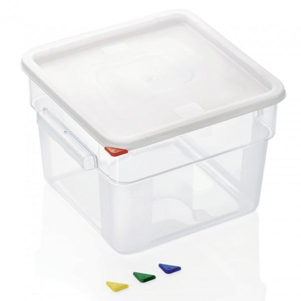Vorratsbehälter mit Deckel, 12 ltr., 28,5 x 28,5 x 21 cm, Polycarbonat