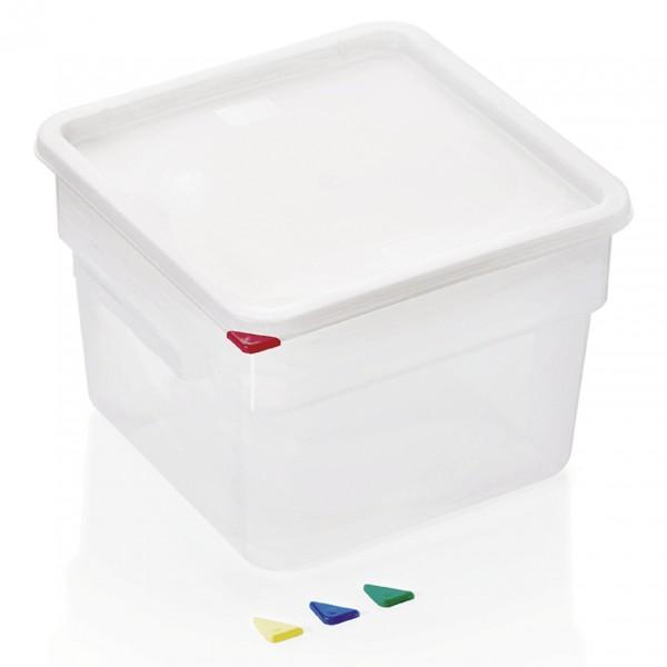 Vorratsbehälter mit Deckel, 12 ltr., 28,5 x 28,5 x 21 cm, Polypropylen