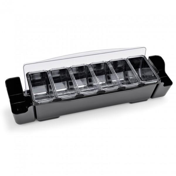 Zutatenbehälter mit 6 Einsätzen á 0,7 ltr., ABS Kunststoff/Polycarbonat