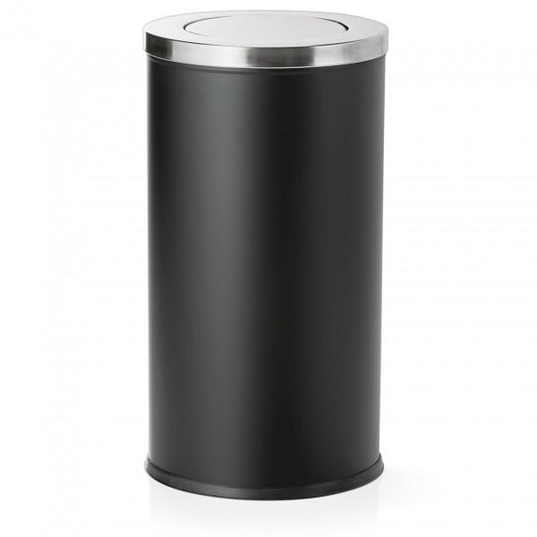 Abfalleimer mit Schwingdeckel, 80 ltr., pulverbeschichteter Stahl