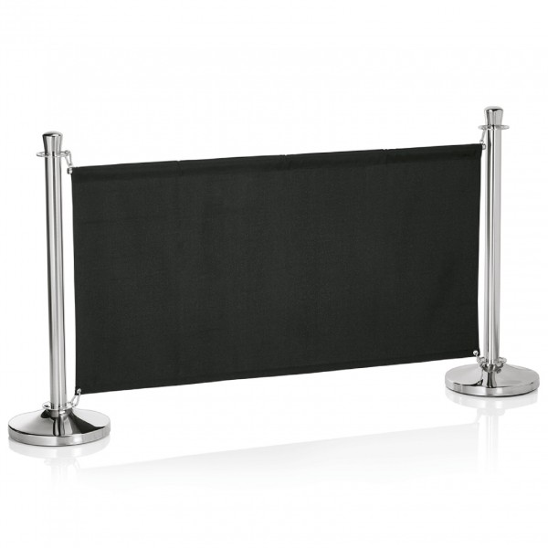 Stange mit zwei Ringplatten für Sichtschutz 2219, 140 cm, silberfarben