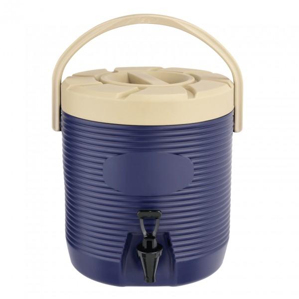 Thermogetränkebehälter, 12 ltr., blau, Kunststoff mit PU-Isolierung