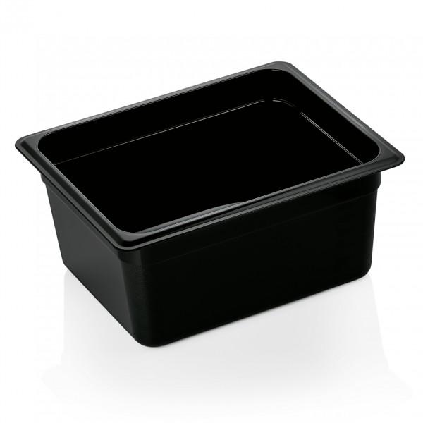 GN Behälter 1/2-150 mm, schwarz, Polycarbonat