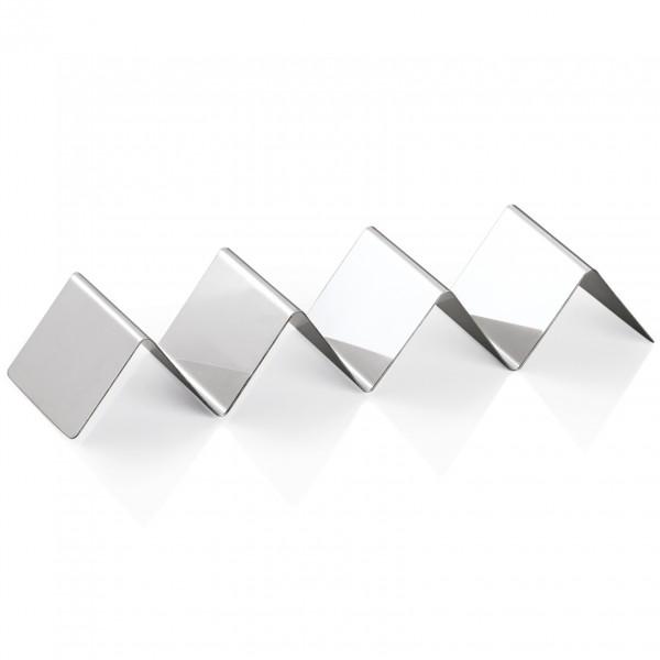 Snackwelle mit drei Ablagen, 25 x 8 x 4,5 cm, Chromnickelstahl