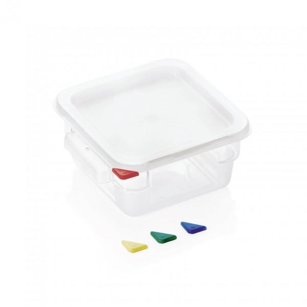 Vorratsbehälter mit Deckel, 2,0 ltr., 18,0 x 18,0 x 10 cm, Polycarbonat