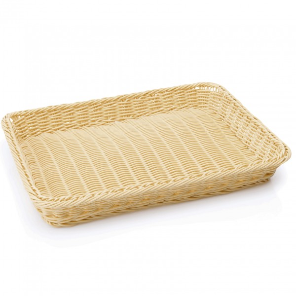 Bäckerkorb, 40 x 30 x 5 cm, hellbraun, Polypropylen