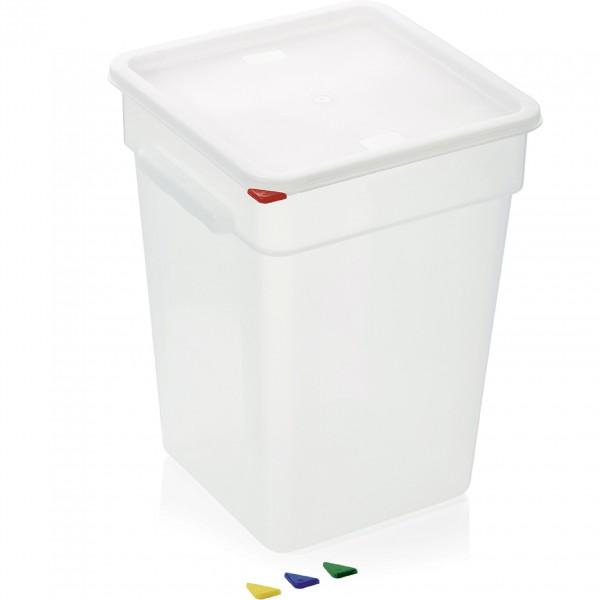 Vorratsbehälter mit Deckel, 22 ltr., 28,5 x 28,5 x 40 cm, Polypropylen