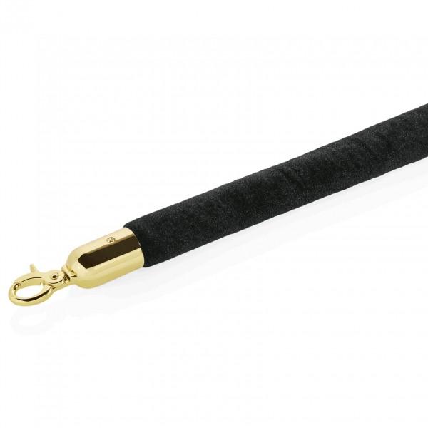 Verbindungstau, Ø 32 mm, 1,5 m, schwarz, Ø 32 mm, mit goldfarbenen Beschlägen
